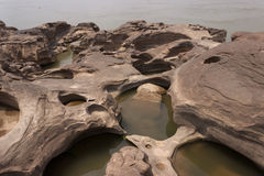 The rock was scoured by water Stock Photography