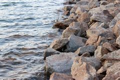 Rock Water Side Wallpaper Stock Image