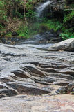 Rock and water. In waterfall tropical Royalty Free Stock Photography