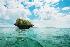 Rock in water in Zanzibar. Vacation, tropics. Rock in water in Zanzibar stock images