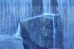 Rock on waterfall. Close-up Stock Photo