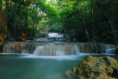 Rock of waterfall. Stone of waterfall in thailand Royalty Free Stock Image