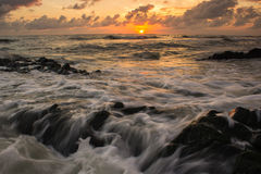 Rock and wave Royalty Free Stock Photo