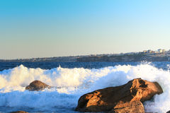 Rock and wave Stock Image