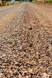 Rock way. The small rock on the road with tilt shift shot Stock Photo