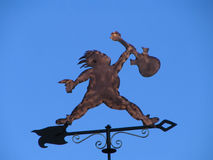 Rock On Weather Vane. Image of Guitar Player as a Weather Vane Royalty Free Stock Photos