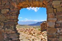 Rock window stock image