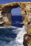 Rock window. Coastal rock window, Azure window, Dwejra,  Gozo, Malta Stock Photo