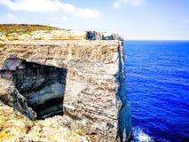 Rock Window on Gozo. View of Mediterranean Sea rock window on island Gozo, Malta royalty free stock photos