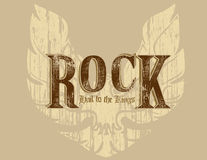 Rock with wings vector illustration