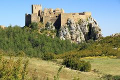 Free Rock With The Castillo De Loarre Close To Spanish Pyrenees. Stock Images - 104435624
