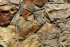 Rock Wock. Rocks made to fit together to make a wall Stock Photography