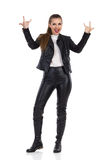 Rock Woman Hand Sign Royalty Free Stock Image
