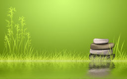 Rock Zen stack at the lake Royalty Free Stock Photography