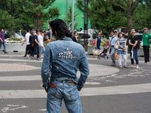 Rockabilly aktörer i Yoyogi parkerar 4 Arkivbild