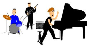 Rockabilly band Stock Images