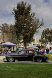 Rockabilly Car Show at Pitzer College. 9 March 2013 - Claremont, CA: Restored 1939 Chevrolet Sedan on display for car and music enthusiasts at 2nd annual Stock Image