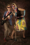 Rockabilly couple having fun Royalty Free Stock Photography