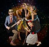 Rockabilly family band Royalty Free Stock Photos