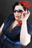 Rockabilly fashion. Portrait of a lovely girl dressed in Rockabilly fashion Royalty Free Stock Photo