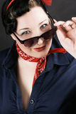 Rockabilly fashion. Portrait of a lovely girl dressed in Rockabilly fashion Royalty Free Stock Photos