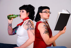 Rockabilly girls. Stock Photos