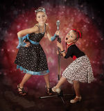 Rockabilly girls Stock Photography