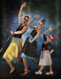 Rockabilly girls singing Stock Photo