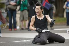 Rockabilly japanischer Tänzer Stockfotografie