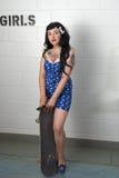 Rockabilly Pin Up Skater Girl Royalty Free Stock Photography