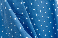 Rockabilly polka dot dress. Blue and white dots Rockabilly polka dress Royalty Free Stock Photos