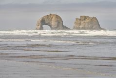 Rockaway海滩,俄勒冈 团结的状态 免版税库存照片