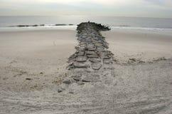 rockaway的海滩 库存照片