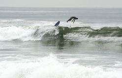 Rockaway Beach is becoming surfing hub Stock Image