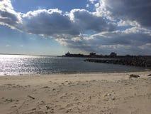 Rockaway beach. Cloudy sky on Rockaway beach Royalty Free Stock Image