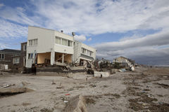 Rockaway distante após o furacão Sandy Foto de Stock