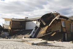 Casa de praia destruída nas consequências do furacão Sandy em Rockaway distante, NY Foto de Stock
