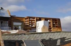 Casa de praia destruída nas consequências do furacão Sandy em Rockaway distante, NY Imagem de Stock Royalty Free
