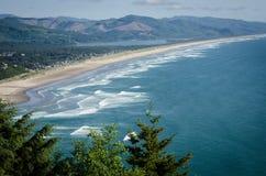 Rockaway strand, Oregon Arkivfoto