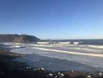 Rockaway strand på pacificaen Kalifornien royaltyfri fotografi