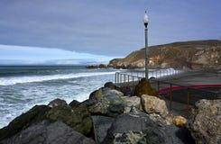 Rockaway strand, Pacifica California royaltyfri bild
