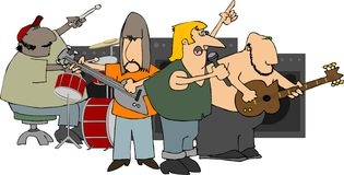 Rockband Stockbilder