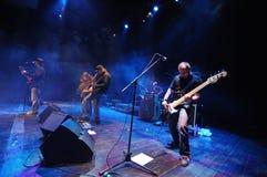 Rockband auf Stufe Stockfoto