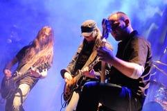 Rockband auf Stufe Stockbild