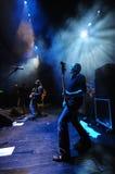 Rockband auf Stufe Stockbilder