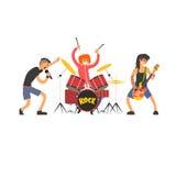 Rockband-Vektor-Illustration Stockfotografie