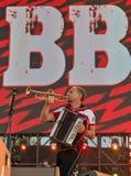 Rockband VV führt am Atlas-Wochenendenfestival durch Kiew, Ukraine Stockfotos