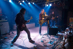 Rockbandkonzert Stockfotografie