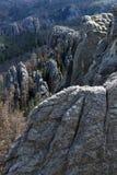 Rockbildande i dalen Arkivfoton