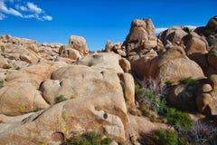 Rockbildande i nationalpark för Joshua Tree fotografering för bildbyråer
